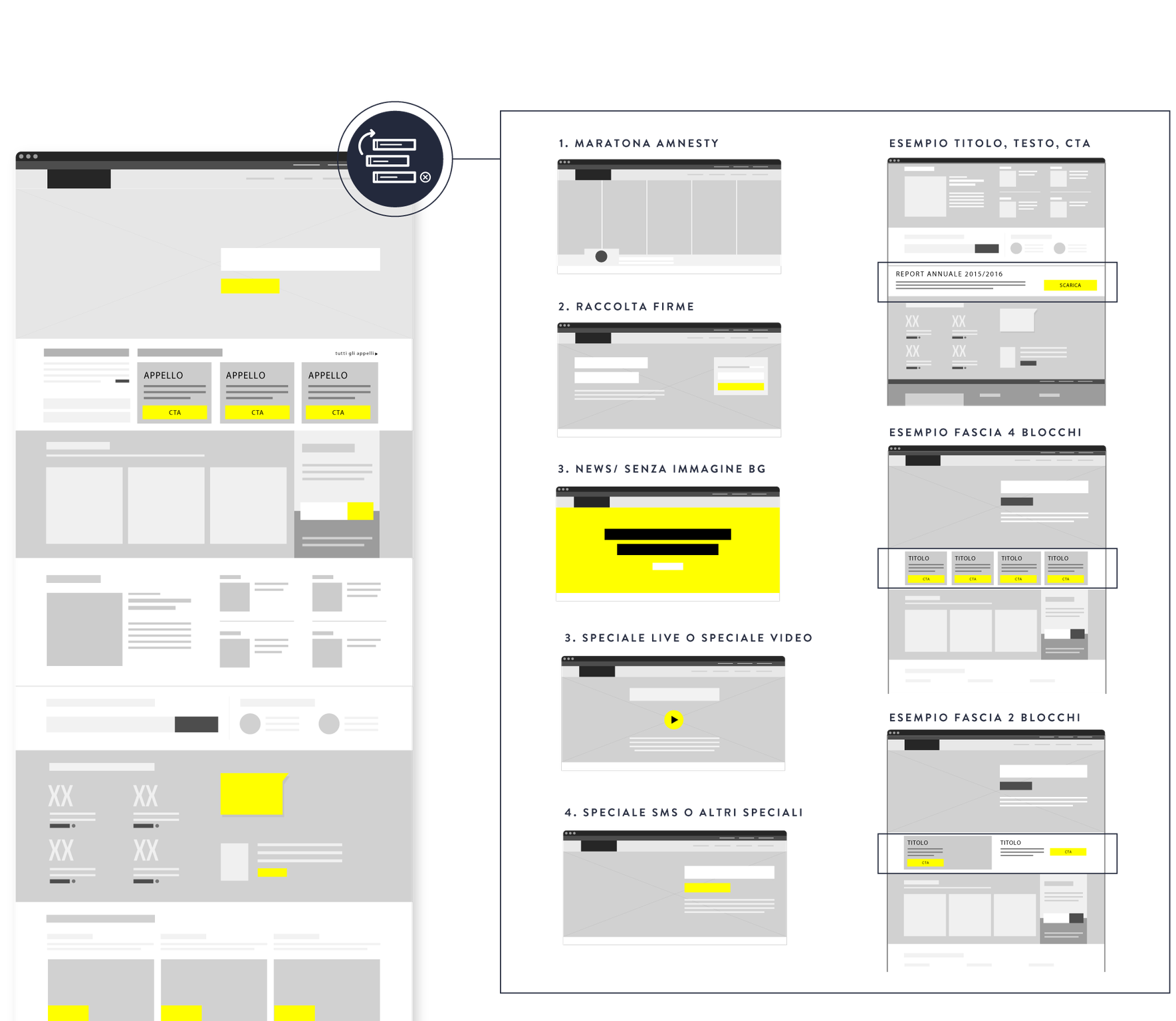 image of the user interface wireframe