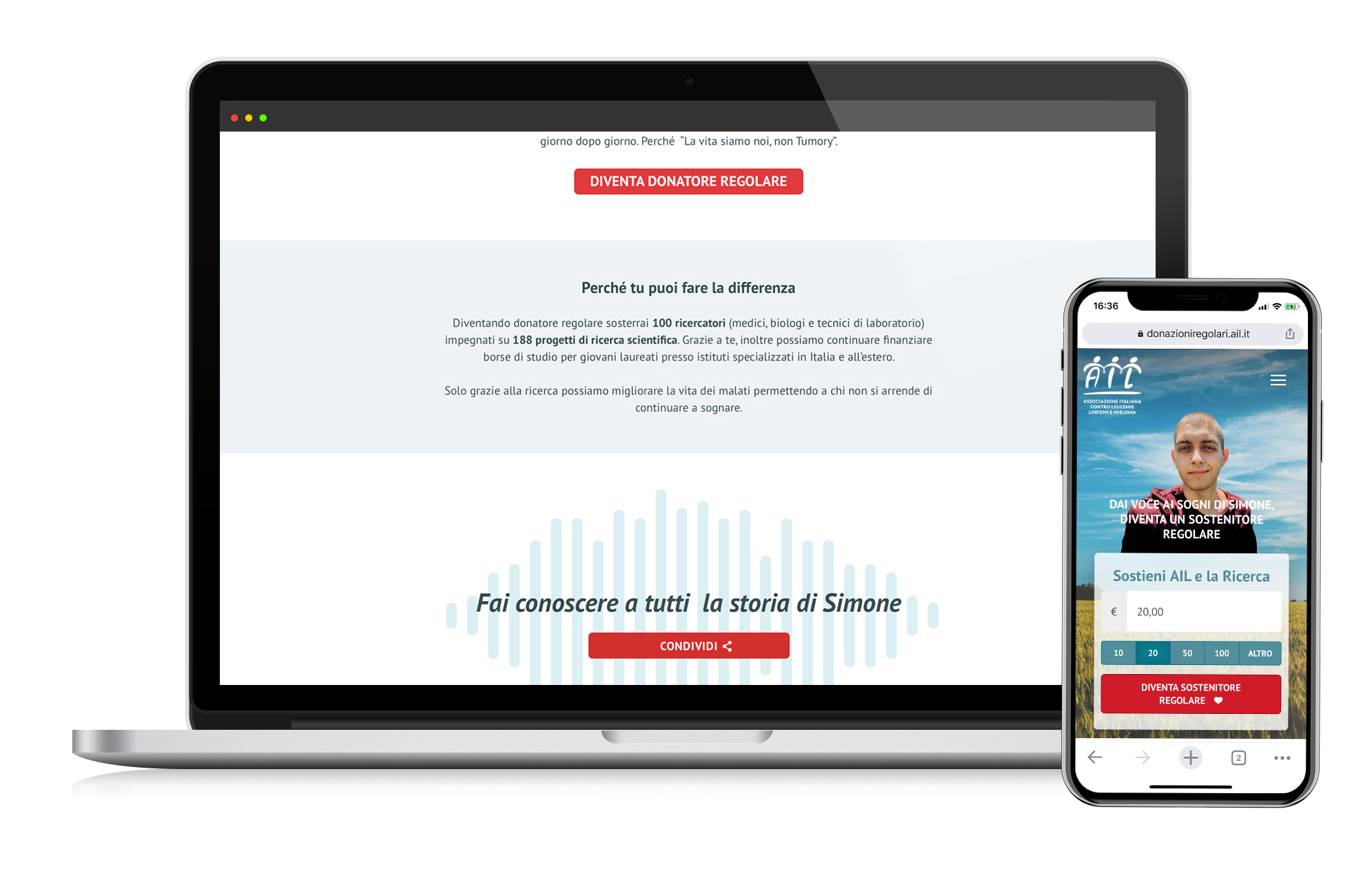 image of the responsive landing page