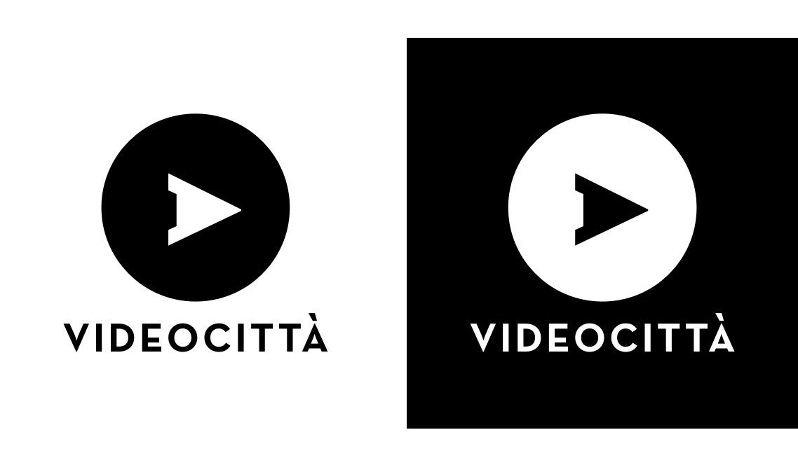 logo positive negative brand identity videocittà