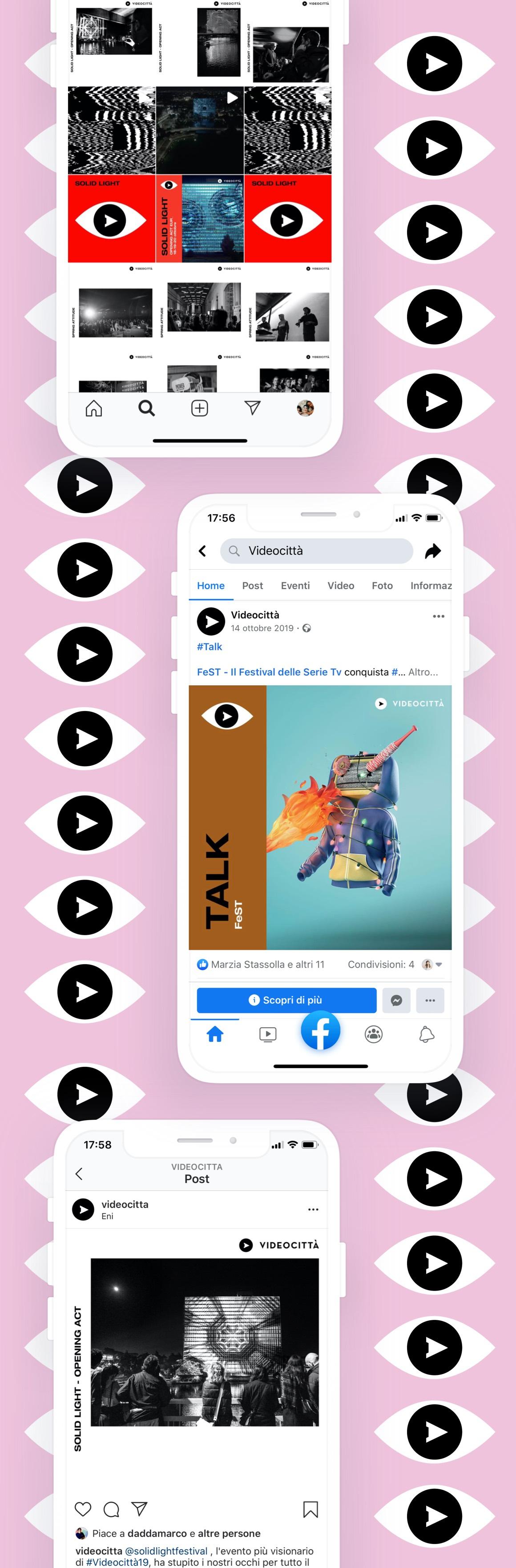 videocittà mockup iphone post social media mobile
