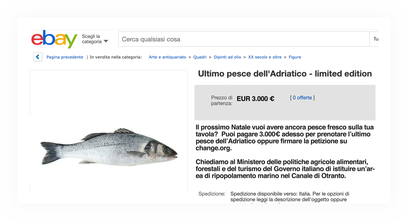 ebay page selling the last fish