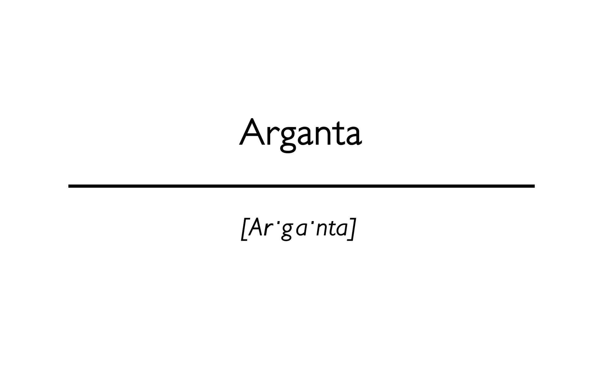 word Arganta