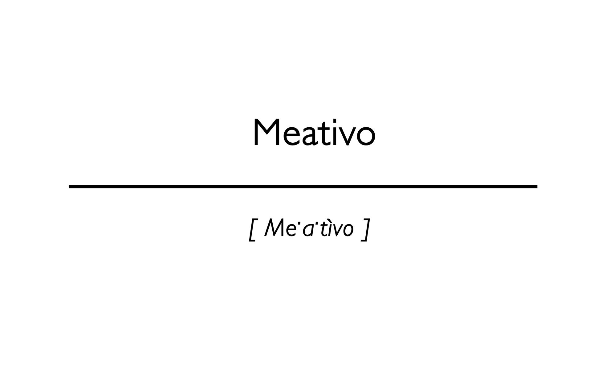 word Meativo