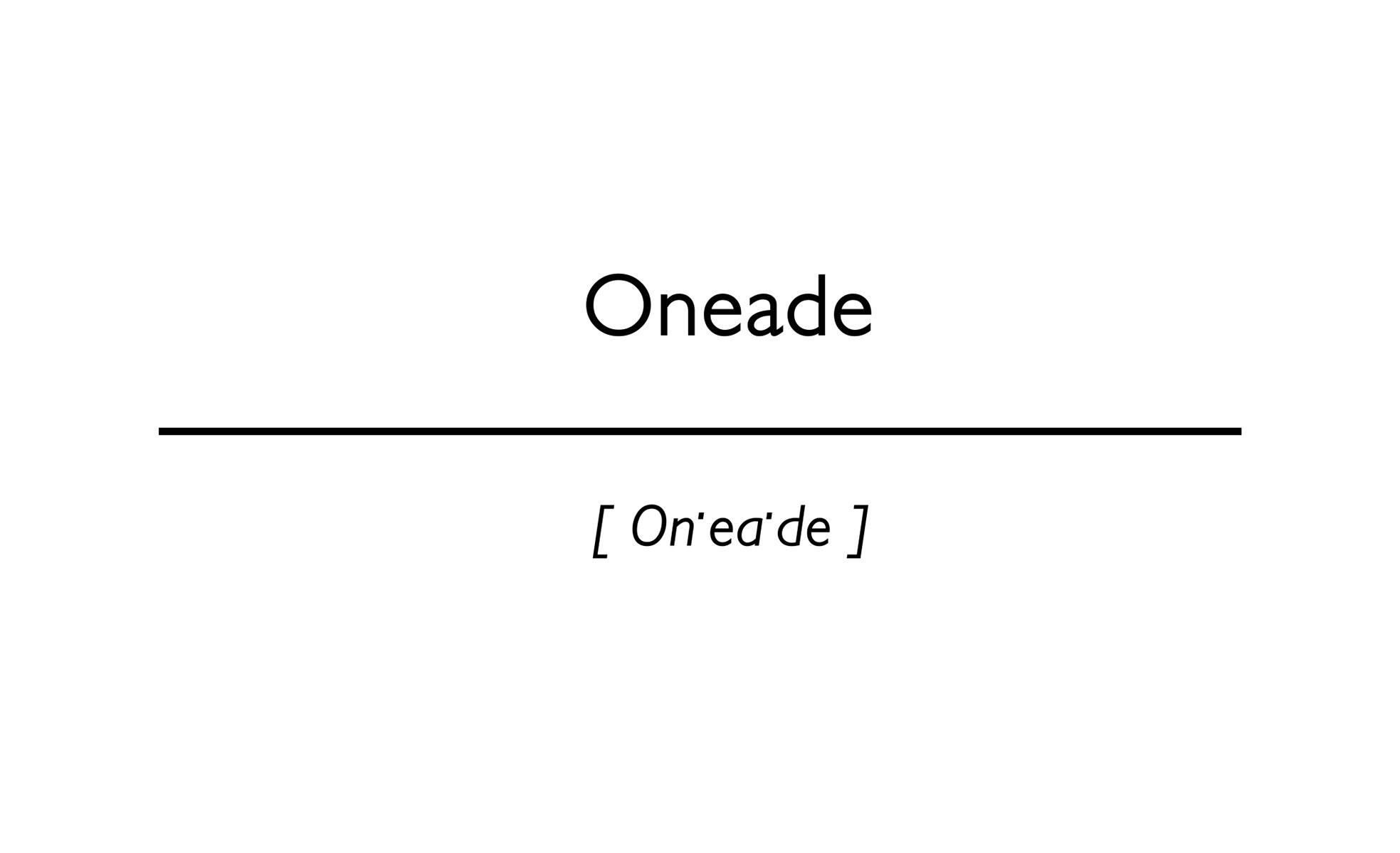 word Oneade