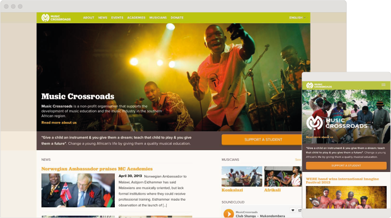 image of the responsive website