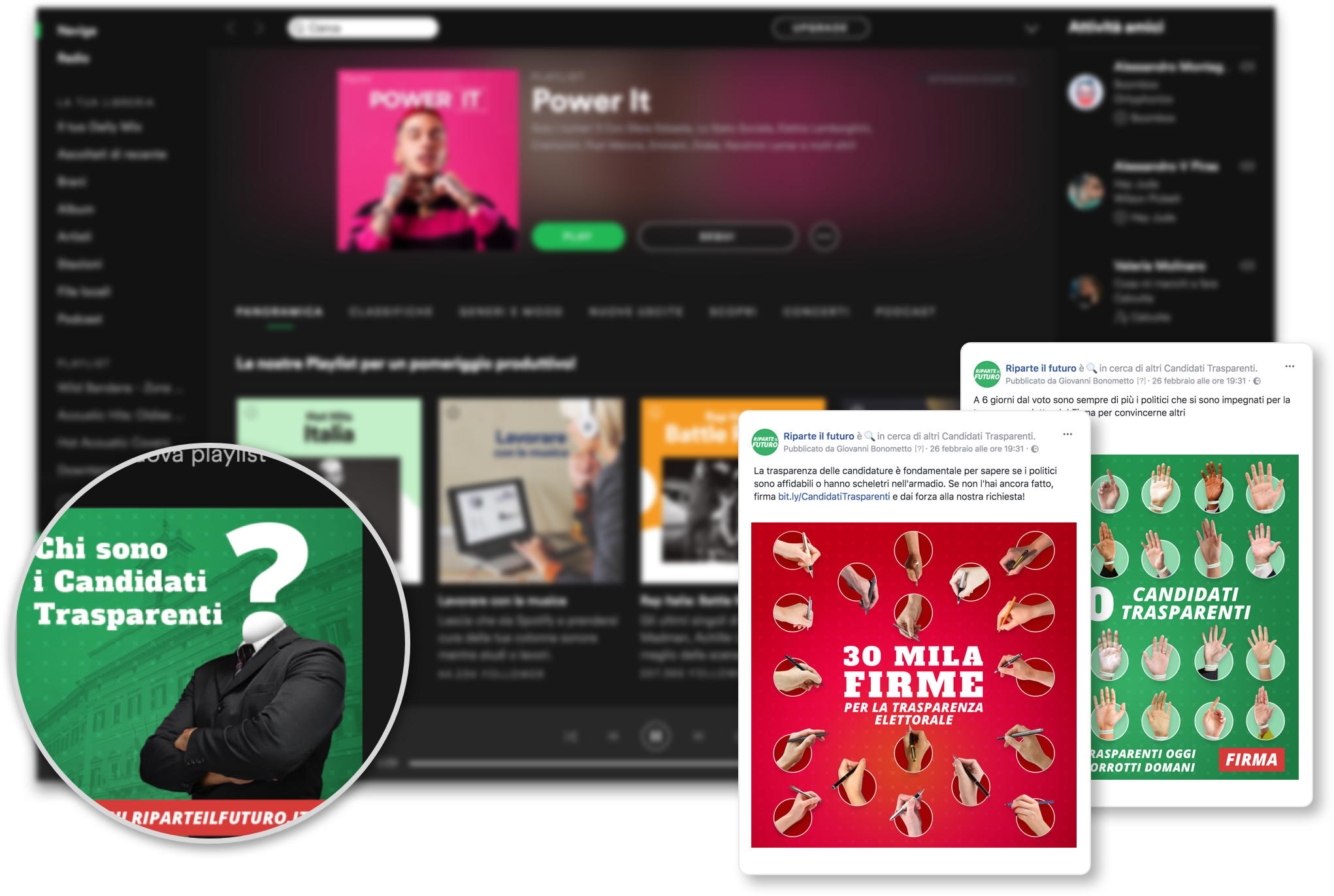 image of the adv on spotify and on social media