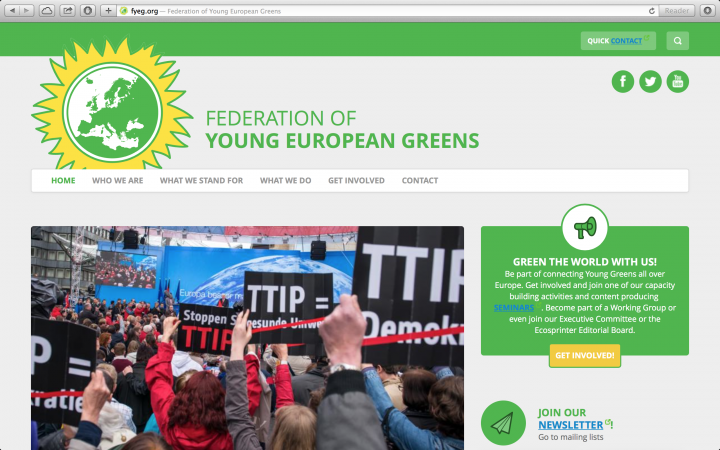 A new website for the Greens