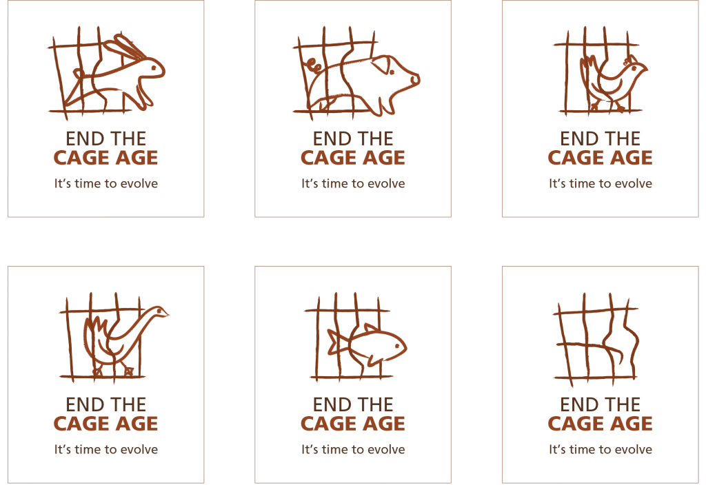 image with the campaign' logos with different animals