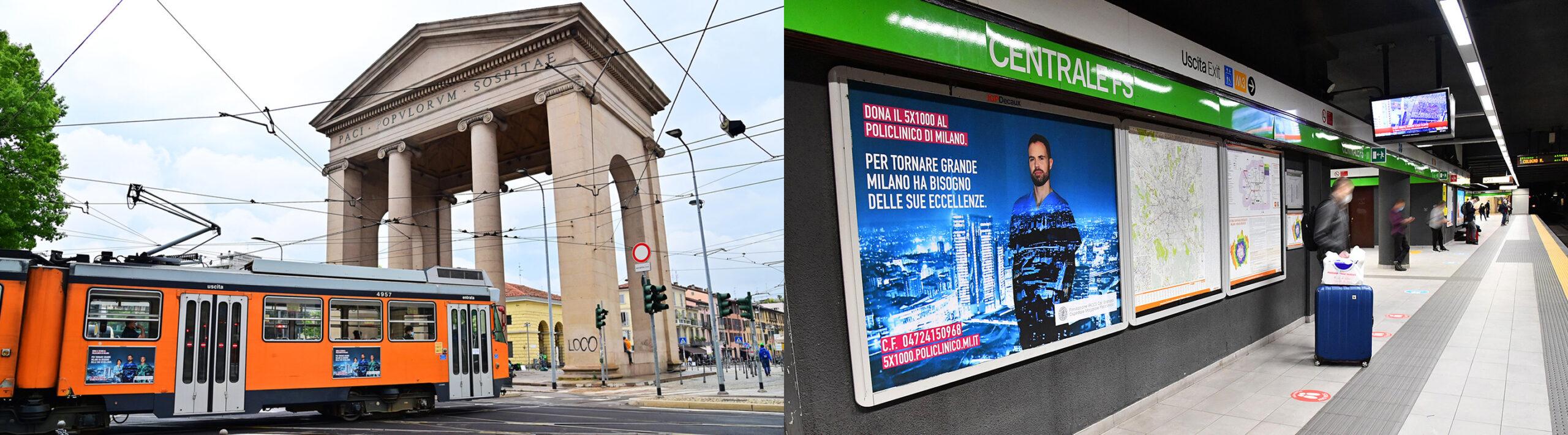 photo of metro & bus billboards policlinico