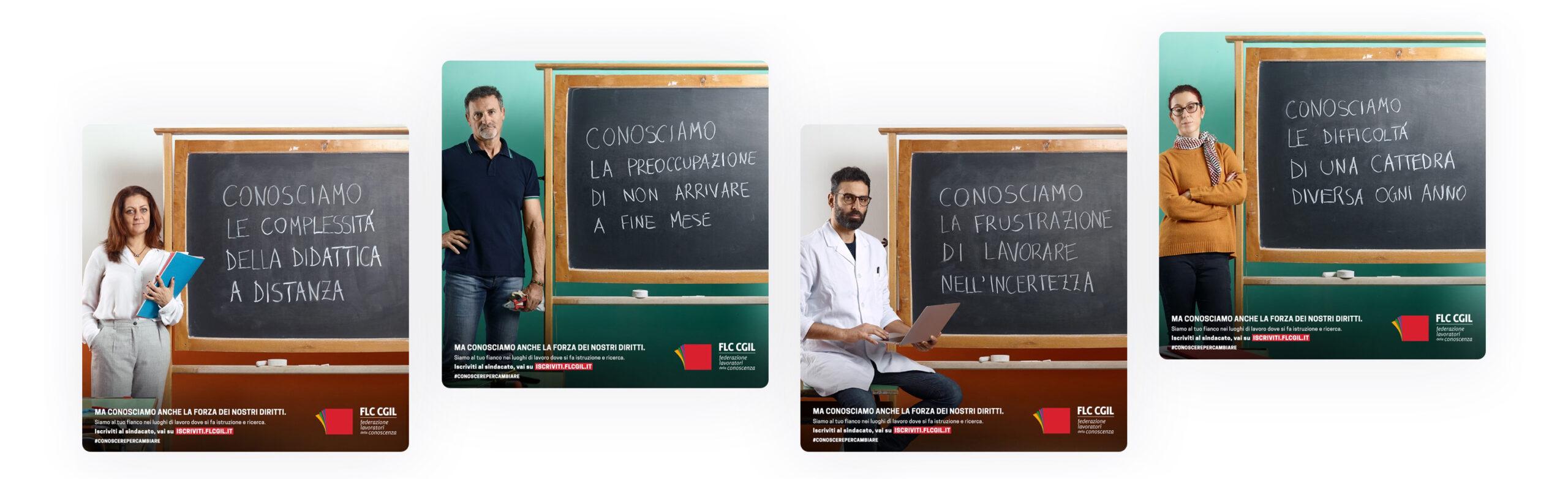 card social flc cgil campaign