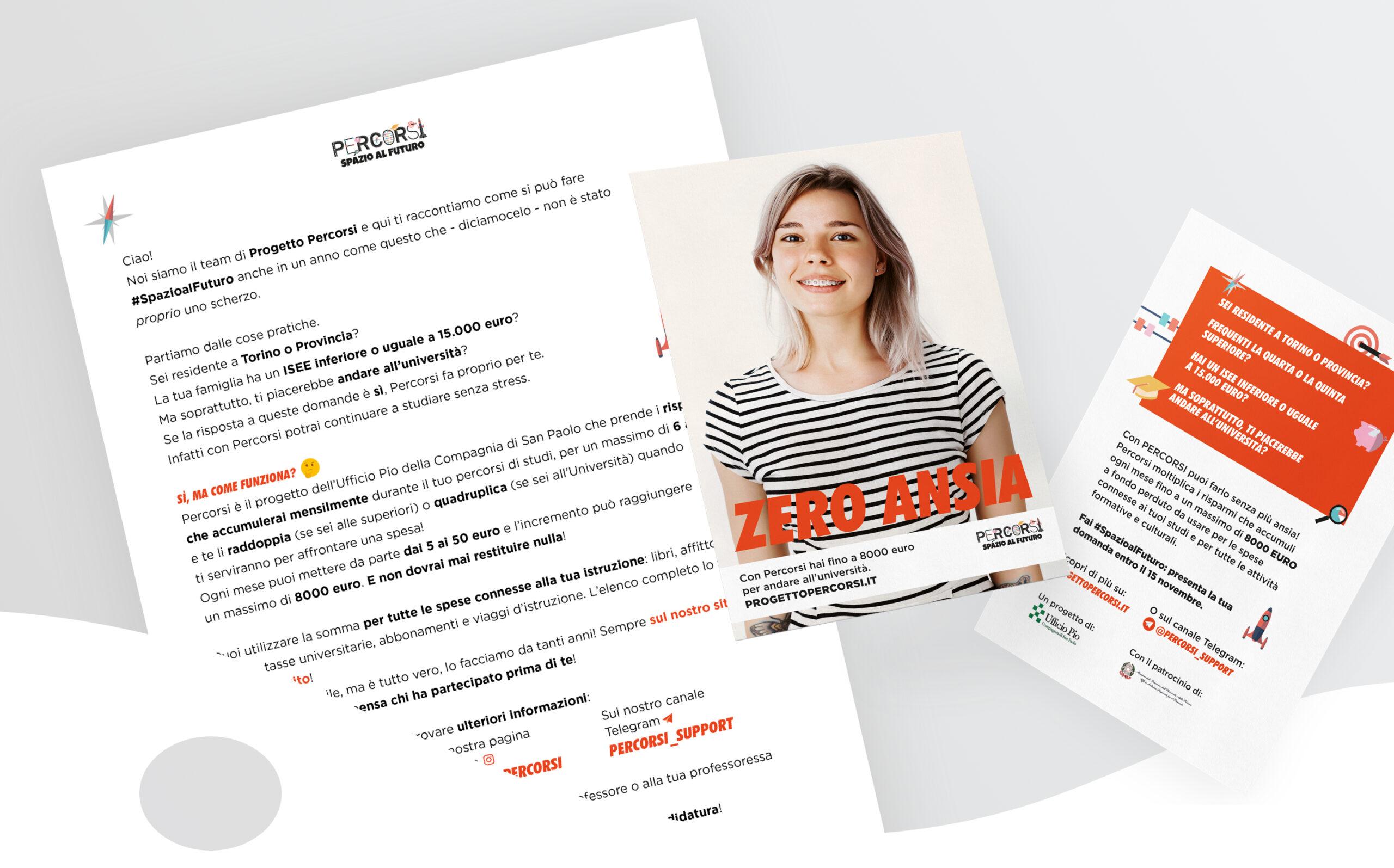 mockup flyer and letter progetto percorsi