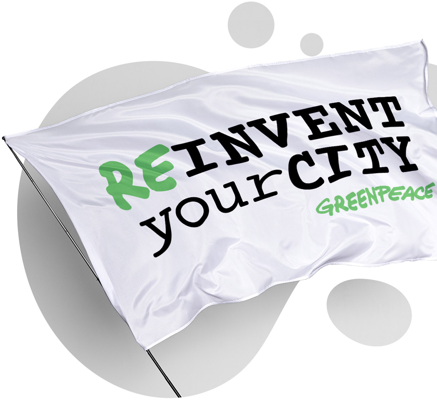 bubble white flag reinvent your city
