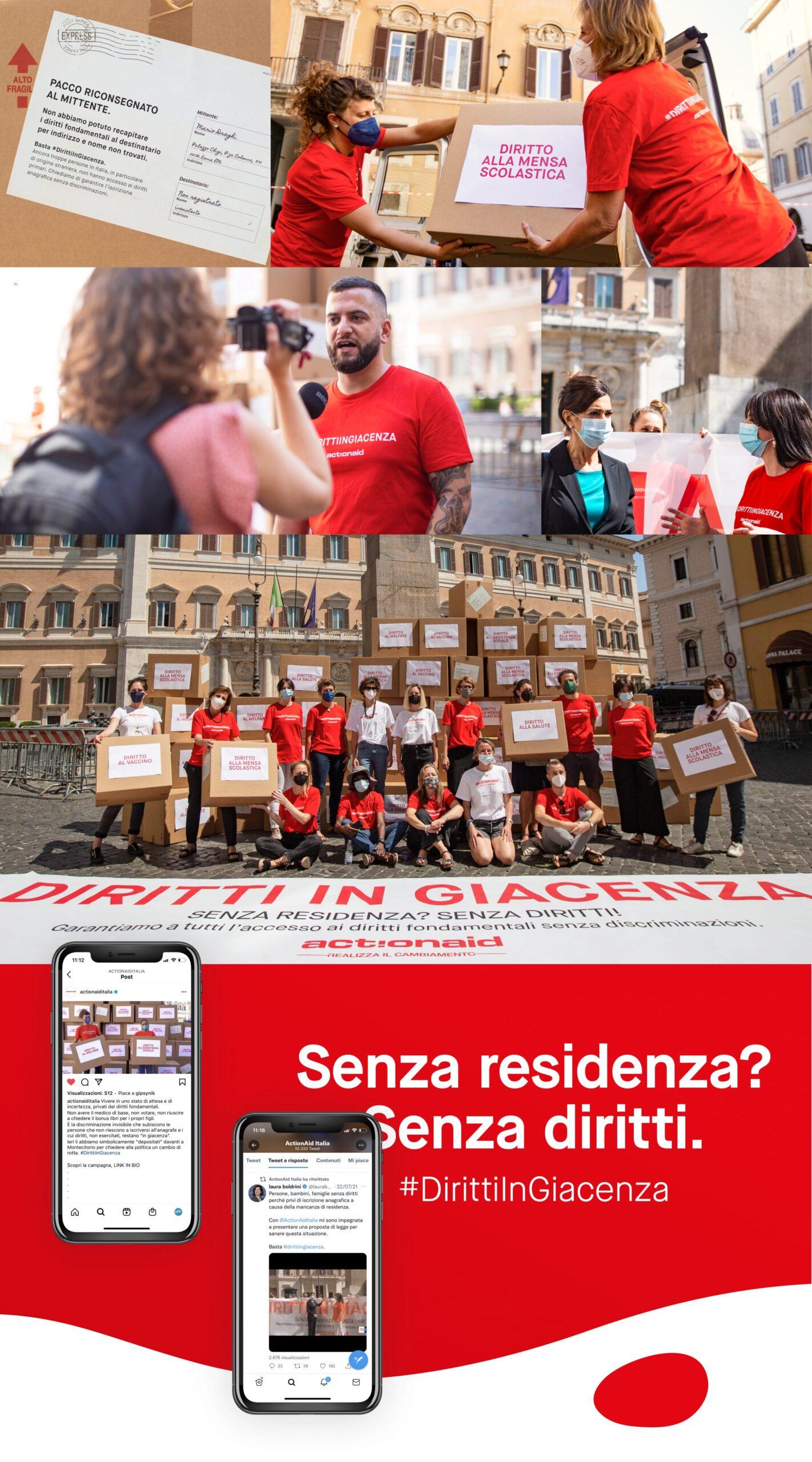 actionaid flashmob photos and mockup